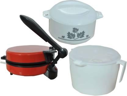 WELLWON ROTI MAKER COMBO RED Roti/Khakhra Maker
