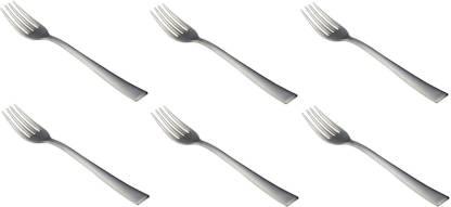 FnS Slim Line Stainless Steel Dessert Fork Set