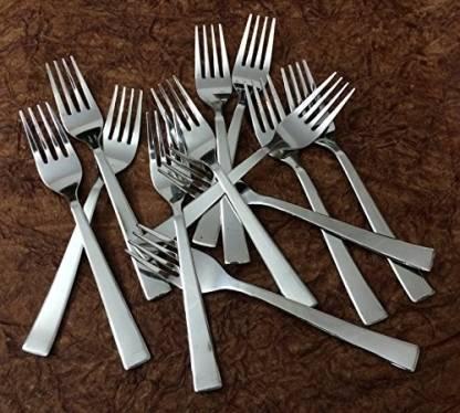 Bharat Stainless Steel Dessert Fork Set