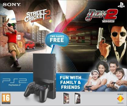 SONY PlayStation 2 (PS2) with Street Cricket-2, Don-2
