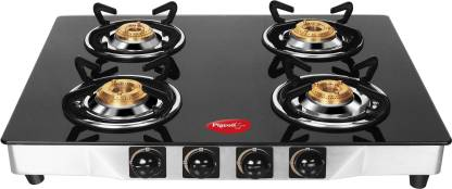 Pigeon Blackline Square Glass, Stainless Steel Automatic Gas Stove