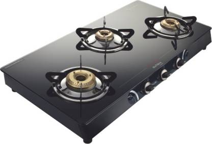 Preethi Blu Flame Sparkle Glass Manual Gas Stove