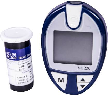 JSB AC200 with 100 Strips 100 Lancets Glucometer