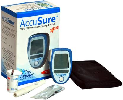 AccuSure Glucose Monitor With 25 Strips Glucometer