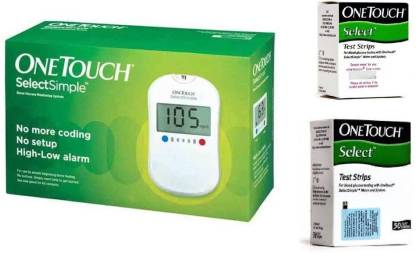 JOHNSON'S One Touch Select Glucose Monitor with 60 Strips Glucometer