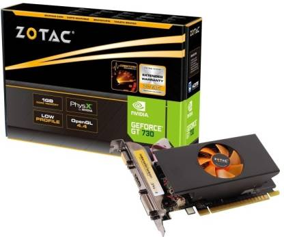 ZOTAC NVIDIA GT 730 1 GB DDR5 Graphics Card