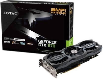 ZOTAC NVIDIA GTX 970 AMP Extreme Edition 4 GB DDR5 Graphics Card