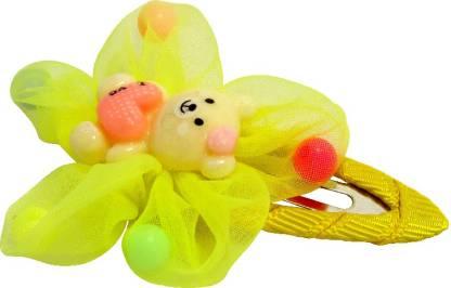 Jewelz Lemon-Yellow Teddy Hair Tic Tac Clip