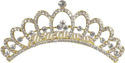 Muchmore Traditional Crown For Woman And Girls For Party And Wedding Occasion Hair Clip