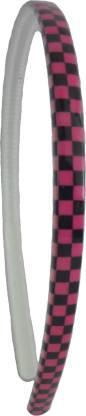 Rigo Black and pink check headband Head Band