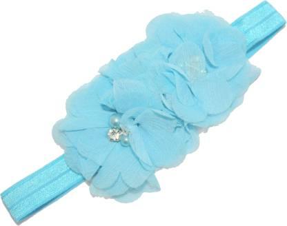 Mamaboo Sky blue color fancy triple flower stone pattern Head Band