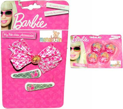 Mamaboo Barbie Pink & White Bow Hair Clip