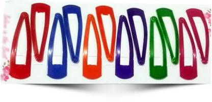 Best & Lowest Stylish Tik Tak Hair Pins - Set of 6 Multicolor Peers Tic Tac Clip