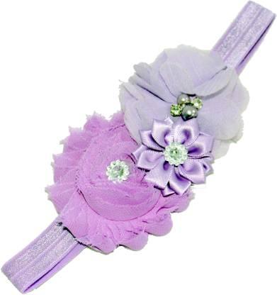 Mamaboo purple shaded triple flower beautiful Head Band