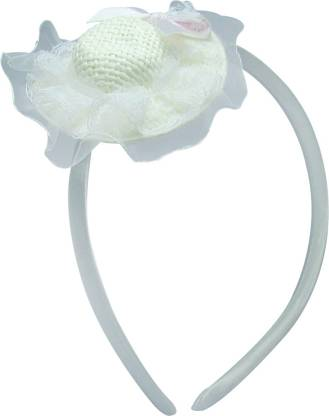 Jewelz Light Blue Textured Hair Band With Hat Like Top For Kids Hair Band
