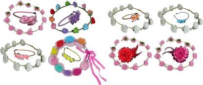 TWINKLE Glam FloraNFashion Hair Band Hair Accessory Set