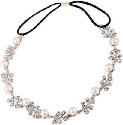 Young & Forever Bling Princess Crystal & Pearl Head Band