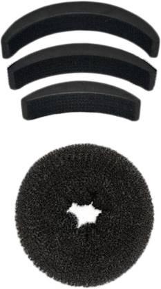 SENECIO??? Medium Donut Bun Maker With Bumpits Celebrity Look 4Pc Hair Accessory Set