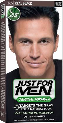 JUST FOR MEN H-55 Real Black Shampoo-In , H-55 Real Black