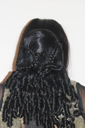 Ritzkart New Style Studded Curly PARTY Clip-on  Extension Hair Extension