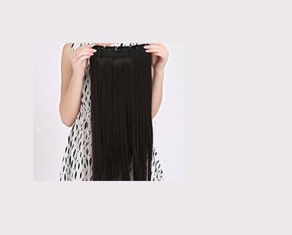 Avani Wigs Remy Real Human clipon Hair Extension