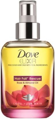 DOVE Elixir Hair Fall Rescue Rose and Almond Hair Oil