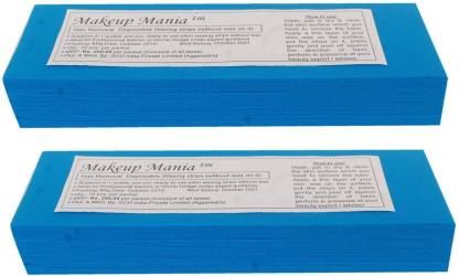 Makeup Mania Waxing Strips - Blue-140 Pcs Strips