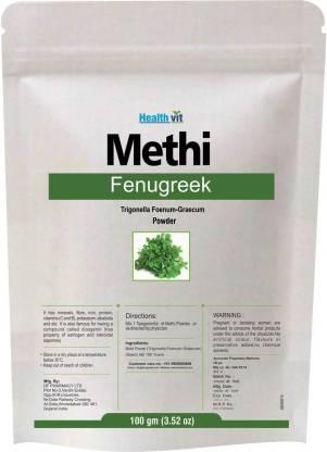 HealthVit Fenugreek/ Methi (Trigonella Foenum-Graecum) Powder 100gms