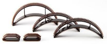 Nirus Hair Volumising Inserts-Bumpits - Black Hair Volumizer Plastic Bumpits