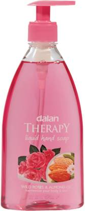 Dalan Therapy Liquid Soap with Wild roses & Almond Oil Fragrance Hand Wash Bottle