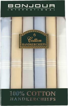"""Bonjour Men's Hanky [""""Multicolor""""] Handkerchief"""