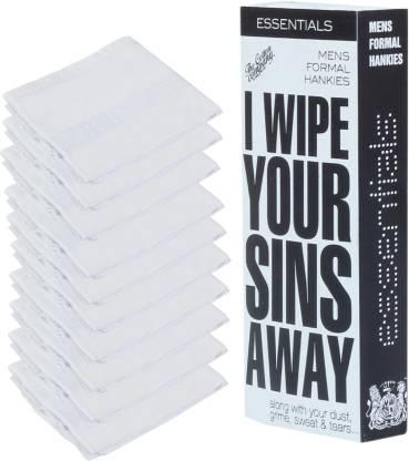 """The Cotton Company Essentials Collection - White [""""White""""] Handkerchief"""
