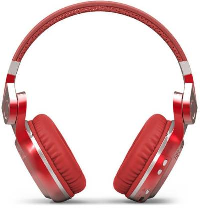 Bluedio T2 Plus Red Bluetooth without Mic Headset