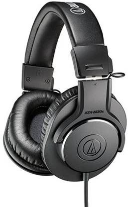 Audio Technica ATH M20x Wired Headset without Mic Black, On the Ear  Audio Technica Headphones