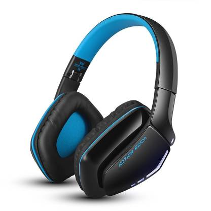Kotion Each B3506 Bluetooth, Wired Headset with Mic   Black/Blue, Over the Ear  Kotion Each Headphones