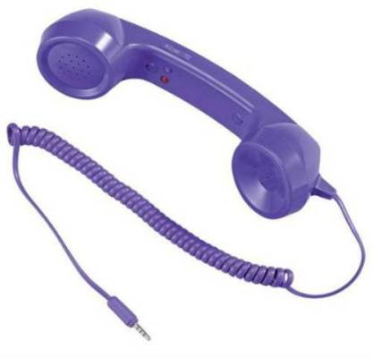 CheckSums 11853 COCO PHONE radiation free phone 3.5mm Wired Retro Handset Receiver- Violet Wired Headset