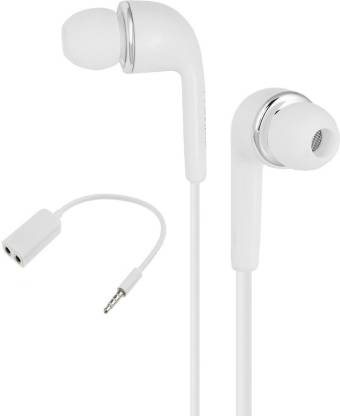 Microvelox Combo pack of earphone + audio spilter Wired Headset