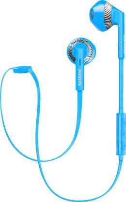 Philips SHB 5250 BL Bluetooth Headset with Mic Blue, In the Ear  Philips Headphones