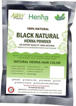ALLin EXPORTERS Natural Black Henna Hair Color