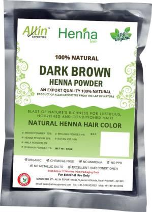 ALLin EXPORTERS Natural Dark Brown Henna Hair Color