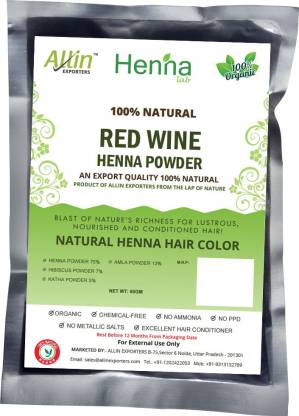 ALLin EXPORTERS Natural Red Wine Henna Hair Color