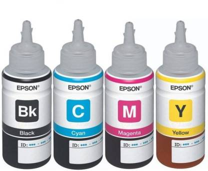 EPSON t6641 Black + Tri Color Combo Pack Ink Cartridge