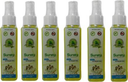 Surety for Safety Anti Mosquito Spray 6 Bottles