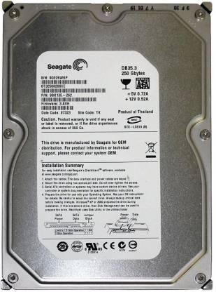 Seagate Barracuda 250 GB Desktop Internal Hard Disk Drive (ST3250820SCE)