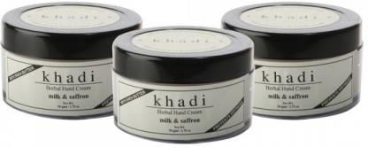 Dr. Jain's Milk & Saffron Hand Cream with Sheabutter Set of 3