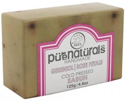 Pure Naturals Hand Made Soap Gereniol   Rose Petals