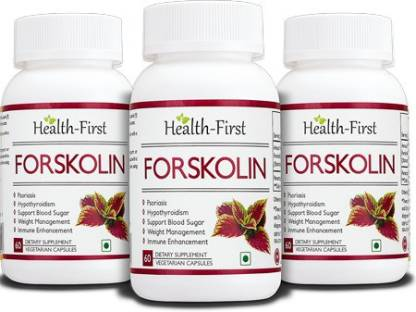 Health first Forskolin for Healthy Weight Loss& Blood Sugar Support, 500 mg 180 capsules(500 mg)