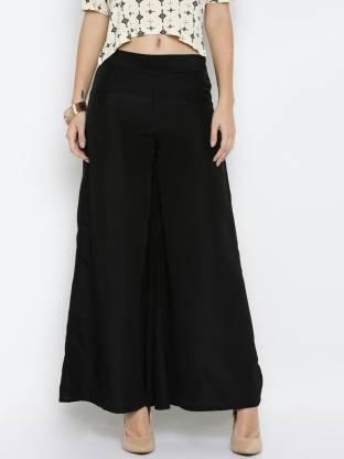 Marami Regular Fit Women Black Trousers