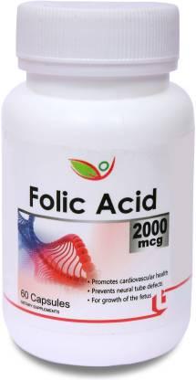 BIOTREX NUTRACEUTICALS Folic Acid 2000mcg