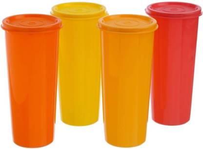 Tupperware Tumbler 450 ml Water Bottles Set of 4, Multicolors